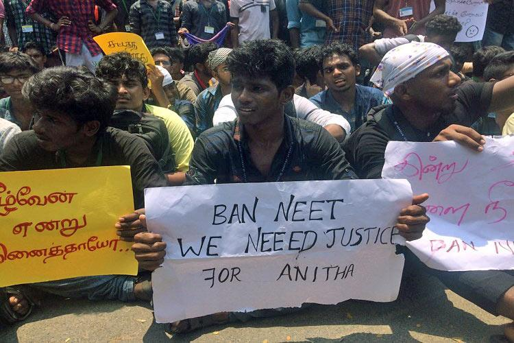 neet protest going in different collages
