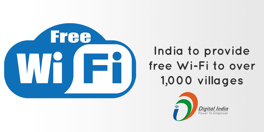 soon wifi is going to be placed in all villages in india
