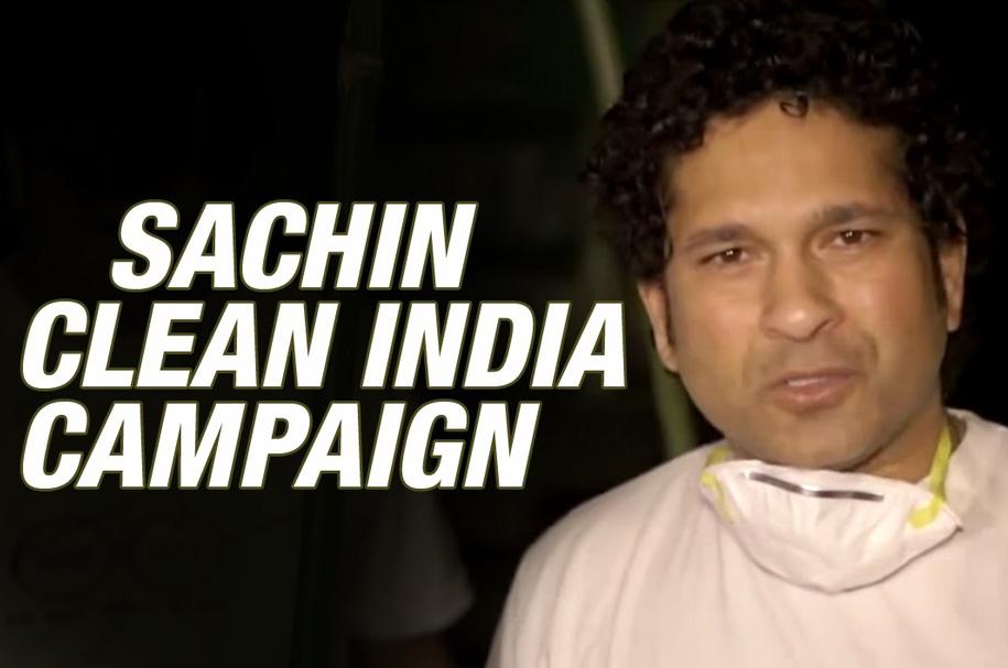 sachin clean india campaign