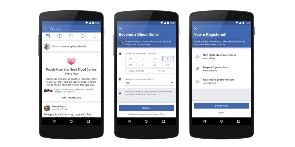 facebook blooddonor