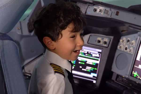Six Years Old Arabic Child Pilots in Saudi Arabia