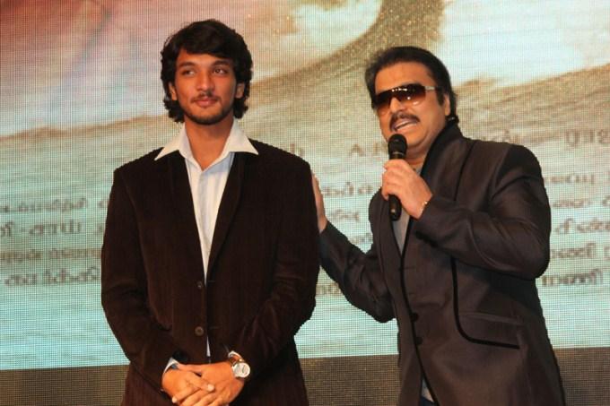 kathik with his son gautham karthik